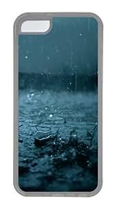 iPhone 5C Case, iPhone 5C Cases - Raining TPU Silicone Case Cover for iPhone 5C - Transparent