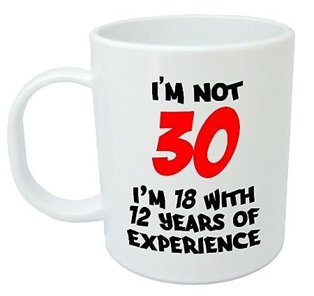 Im Not 30 30th Birthday Gift Mug Amazoncouk Kitchen Home
