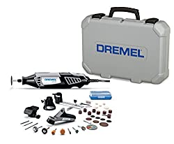 Dremel 4000-434 High Performance Rotary Tool Kit With Variable Speed Rotary Tool, 4 Attachments & 34 Accessories