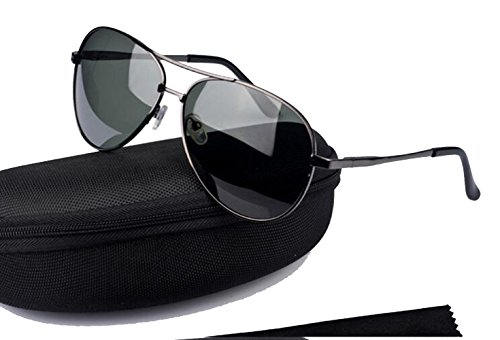 Aviator Polarized Sunglasses for Men and Women With Case UV 400 Protection - Okley Glass