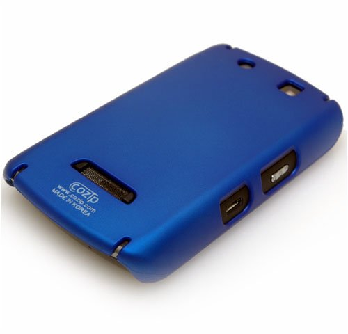 Cozip Brand Rubberized Polycarbonate Snap on Slim fit Case Cover for RIM Blackberry Storm 9500 ( Blue ) -