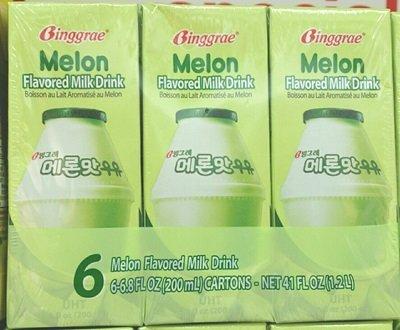 Binggrae Melon Flavored Milk Drink 200ml 6-pack Net 41 Fl Oz