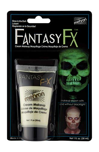 Mehron Makeup Fantasy F/X Water Based Face & Body Paint (1 oz) (GLOW IN THE DARK) -