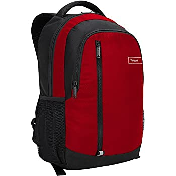Targus Sport Backpack with Padded Laptop Compartment for 15.6-Inch Laptop, Red (TSB89103US)