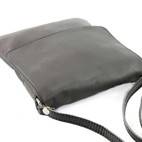leather modamoda Messenger 34 ital ladies Umbragrau shoulder bag T bag de small EqwZAqp6