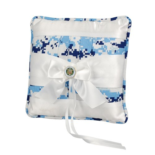 Jamie Lynn Digital Military Collection, Ring Pillow, Blue, Army