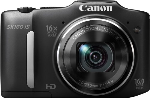 Canon Digital Camera PowerShot SX160IS 16MP x16 Optical Zoom AA battery PSSX160IS - International Version