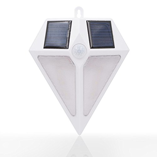 Solar Motion Lights Outdoor, Wireless 6 LED Motion Sensor Solar Lights with Wide Angle, Easy Install Waterproof Security Lights Super Bright Garden Lights for Front Door, Back Yard, Driveway, Garage by SOCO