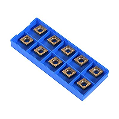 10pcs CNC Carbide Insert Cutter Indexable Lathe Milling Inserts Turning Tools with Box CCMT09t304 CCMT32.5