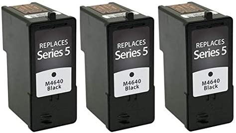 3//PK 310-0053/_3PK Series 5 SuppliesMAX Compatible Replacement for Dell A922//924//942//944//946//962//964 Black Inkjet