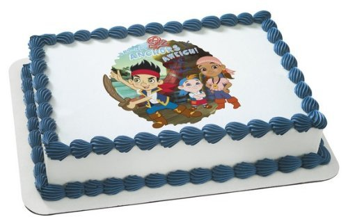 1 X Jake & the Neverland Pirates Disney Jr. Edible Cake Image Topper by -