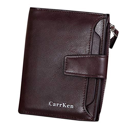 (Wallet Men Wallets Purse Short Male Vintage Clutch Money Bag (Coffee))
