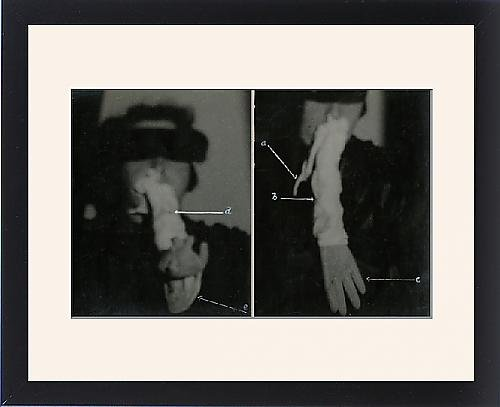 Framed Print of Helen Duncan - Ectoplasm a Teleplasmic hand by Prints Prints Prints