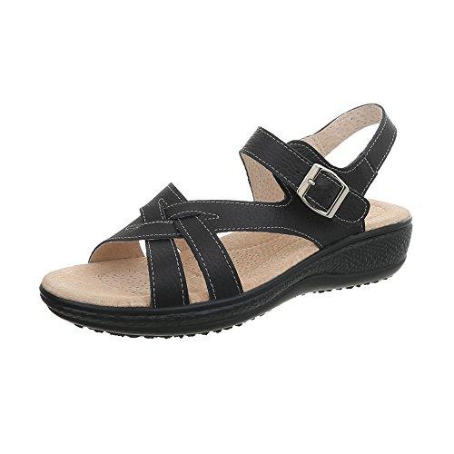 Zapatos De Para Negro Plano Sandalias Lbs6298 Con Ital design Vestir  Hebilla Mujer g5wpSBq 7b0fc7cf4e2c