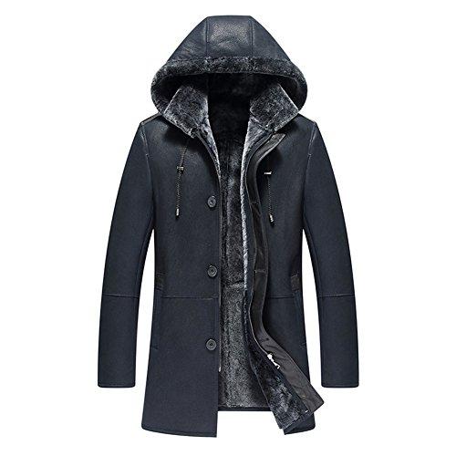 e78fa7ab6bda Denny Dora Men s Shearling Coat Removable Hooded Mens Genuine Leather Jacket  - Buy Online in KSA. Apparel products in Saudi Arabia.