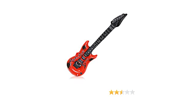 Relaxdays Guitarra Hinchable, 1 Pieza, Largo: 107 cm, Medidas: 21 ...