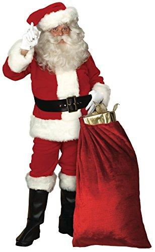 Rubie's Deluxe Imperial Plush Santa Suit, Red/White, Standard