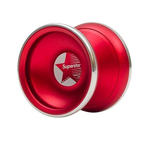 Superstar BiMetal Professional Yoyo by YoYoFactory Color Red by Superstar BiMetal by Yoyofactory