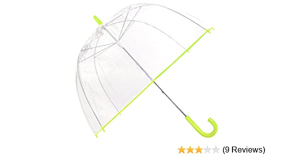 b478e7450b7e Capelli New York Neon Printed Border Ladies Manual Stick Dome Umbrella