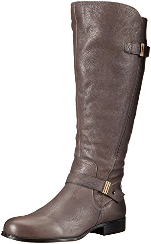 Joan Boot Women's Calf Riding Naturalizer Grey Wide 8n75xX5wq