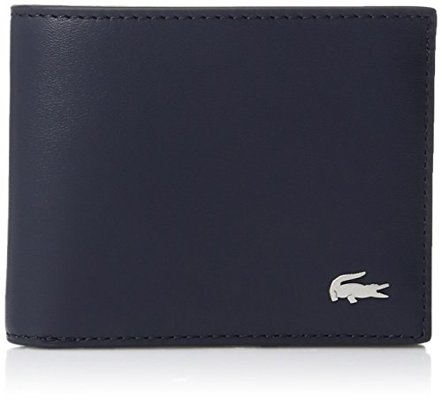 Lacoste Men's Small Slim Billfold with Id Slot,Peacoat