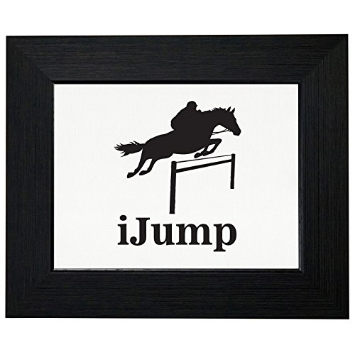 - iJump Horseback Riding Equestrian Jumping Framed Print Poster Wall or Desk Mount Options