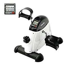 YOSUDA Under Desk Bike Pedal Exerciser - Mini Cycle Exercise Bike for Leg/Arm Pedder Portable Features 1. Lightweight mini under desk pedal exerciser 2. Small size, convenient storage 3. Easy to install, just 2 steps 4. Adjustable resistance,...