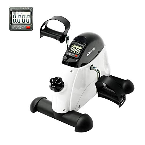 Review YOSUDA Under Desk Bike Pedal Exerciser - Mini Cycle Exercise Bike for Leg/Arm Pedder Portable