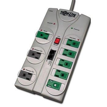 Tripp Lite TLP808NETG Eco Surge Green, 8 Outlet, Tel DSL, 8ft Cord, 2160 Joules