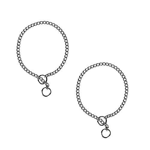 lated Chain Choke Training Dog Collar   24-Inches by 3.0 mm Heavy Links   2-Pack ()