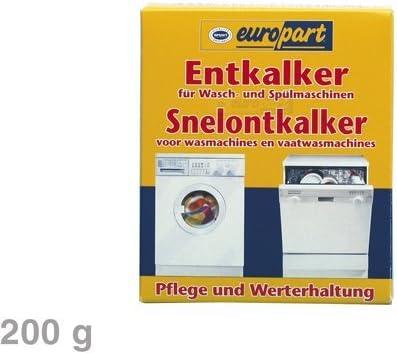 Europart Descalcificador descalcificador Lavadora lavavajillas 200g para AEG Bosch Siemens Bauknecht Miele Neff Constructa UVM.