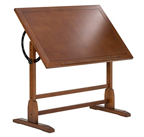 Studio Designs Vintage Rustic Oak Drafting Table, Top...