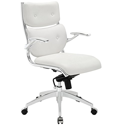 Modway Push Faux Leather Managerial Office Chair With Buttoned Detail in - In Shopping Manhattan Outlet