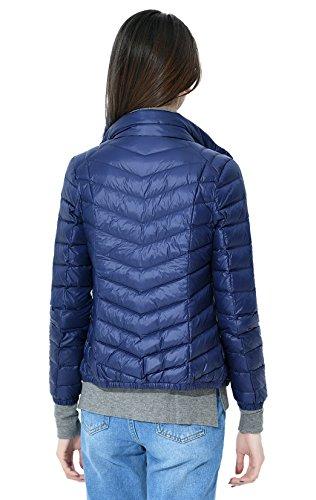 Packable Chaqueta Calentar Collar De Abajo Ligero Colores Disponibles Soporte Azul Las Abajo Más 9 Marino Capa Grueso Mujeres Santimon Del v4gqq