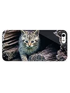 3d Full Wrap Case for iPhone 5/5s Animal Beautiful Kitten