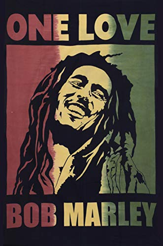 Colors Of Rajasthan Bob Marley Tapestry Indian Wall Hanging Hippie Decor Bohemian Bedding Single Boho Picnic Throw Gypsy Beach Blanket One Love Rasta Reggae Tapestries (Rasta Color Blanket)