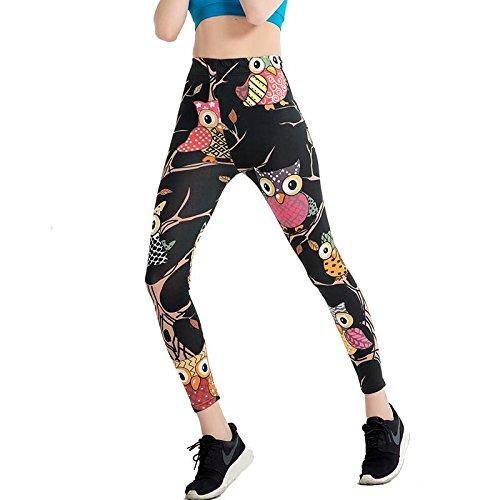 JIALELE Pantalon De Yoga Pantalons Crayon Mince Imprimer Était Mince Pantalon Crayon Mesdames Grand Élastique Leggings Yoga