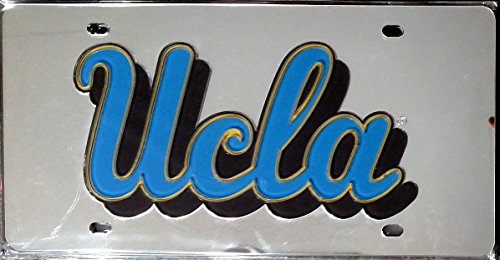 UCLA Bruins SD90623 Silver Deluxe Laser Cut Acrylic Inlaid License Plate Tag University of ()
