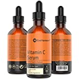 2oz Vitamin C Facial Serum by Eve Hansen - Made in USA with Organic & Natural Ingredients - Top Selling Anti-Aging Serum w/ Hyaluronic Acid & Vit. E - Helps Reduce Wrinkles, Sun Spots & Discoloration