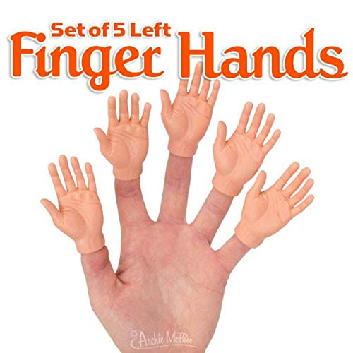 Accoutrements Set of Five Rubber Finger Hands in Box]()