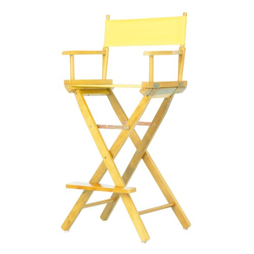 Casual Home 30-Inch Director Chair, Natural Frame (Bar Directors Chair)