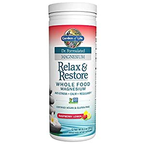 Garden of Life Dr. Formulated Magnesium Relax & Restore Raspberry Lemon 8.1oz (230g) Powder