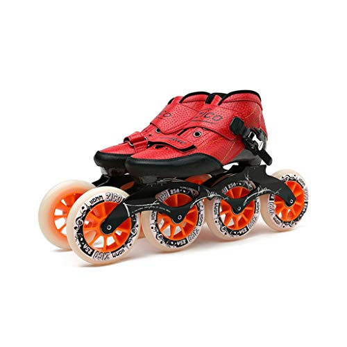- Ailj Adult Professional Rollerblades, 490-110MM Wheels Carbon Fiber Professional Roller Skates for Women Black Inline Speed Skates Red Blue (Color : Red, Size : EU 35)