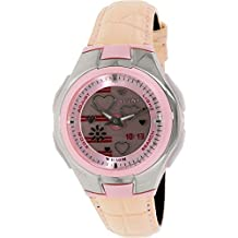 Casio Women's Poptone LCF10L-4A Pink Leather Quartz Watch with Pink Dial
