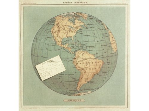 Floating Circus Linen Pinboard, French Globe
