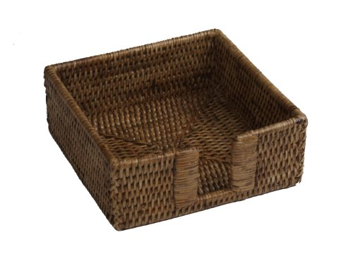 Rattan Napkin Holder (Entertaining with Caspari Rattan Cocktail Napkin)