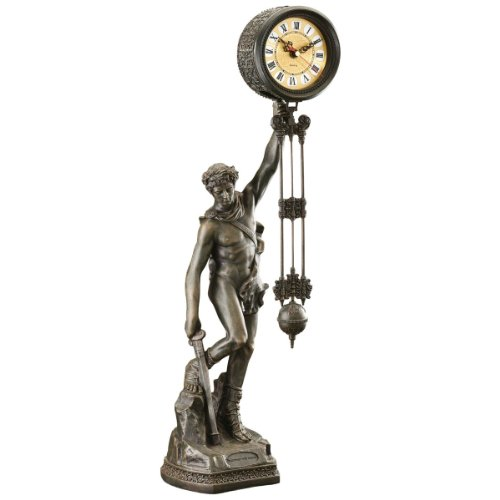 Design Toscano Be Crowned with Victory Sculptural Pendulum Clock by Design Toscano