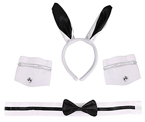 Costume Accessories -Playboy Bunny Ears, Bow Tie,Cuff Bands Set ()