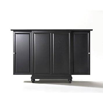 expandable furniture. crosley furniture cambridge expandable top bar cabinet black