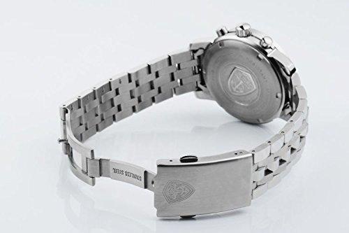 Jiusko armbandsur för män klockor sport kronograf, multifunktion, kvarts, 100 m vattenresistens safirglas silver vit